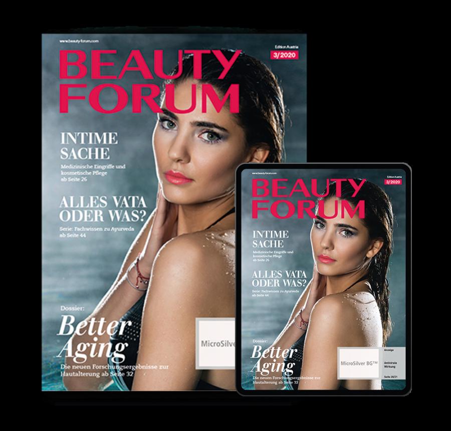 Kosmetik Premium Abo BEAUTY FORUM Austria Print und Digital